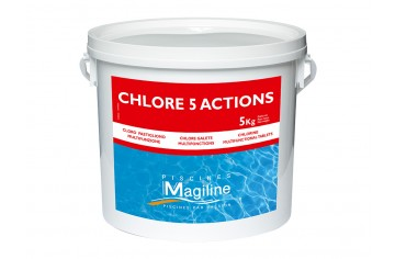 MAGILINE CHLORE GALET 5 ACTIONS 5KG