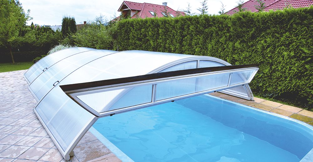 Boutique magiline abris for Abri de piscine sans rail au sol